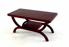 Dolls House Miniature 1:12 Scale Lounge Furniture Mahogany Art Deco Coffee Table