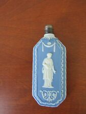 "Bliue Jasperware 4 3/4"" perfume bottle, Wedgwood school"