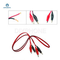 10pcs Double-ended Crocodile Clips Cable Alligator Clips Wire Testing Wire 1M
