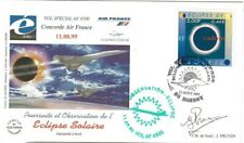 AIR FRANCE CONCORDE VOL SPECIAL ECLIPSE 1999 TRANSPORTEE A BORD ET SIGNEE CDB