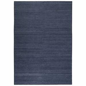 Weconhome Rainbow Kelim Esprit Rugs 7708 13 Navy Blue Cotton Thin Handmade Mats