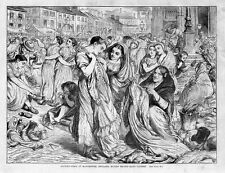 FACTORY GIRLS AT MANCHESTER BUYING SECOND HAND CLOTHES 1871 HISTORY FACTORY GIRL
