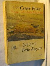 FERIA D'AGOSTO Cesare Pavese Einaudi Terza edizione 1955 libro di scritto da per