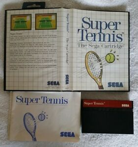 GENUINE SEGA MASTER SYSTEM GAME - SUPER TENNIS - COMPLETE FAST POST