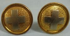Pair Hospital Dept Side Buttons for Model 1881 U.S. Army Dress Spiked Helmet