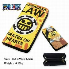 ONE PIECE PORTAFOGLIO TRAFALGAR LAW WALLET MONKEY D LUFFY RUFY RUBBER COSPLAY #1