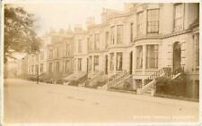 REAL PHOTOGRAPHIC POSTCARD OF CROWN TERRACE, SCARBOROUGH, NORTH YORKSHIRE