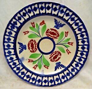 Esponjeado Cerámica Placa Porcelana Inglés Pintado a Mano Collectibles #2