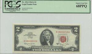1963A $2 Legal Tender FR#1514 PCGS 68 Superb Gem PPQ