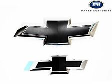 15-18 Chevrolet Impala Black Bowtie Emblem Kit 23287538 Chrome w/ Black Inserts