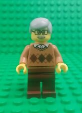 *NEW* Lego Grandad Grandpa Minifigure Grey Hair Glasses Moustache Figure Fig x 1