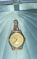 Vintage Yale Tuffy Wrist Watch With Kreisler .025 Gold Band Men's Women's Works!