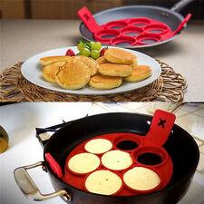 Non Stick Pancake Pan Flip  Breakfast Maker Egg Omelette Flipjack Tool 2017 New~