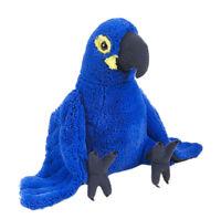 "Parrot Hyacinth Macaw Blue soft plush toy 12""/30cm WILD REPUBLIC - NEW"
