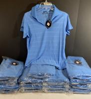 NEW Antigua Women's Blue Slazenger Golf Polo Shirt Ladies Size M NWT!