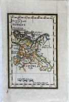 Holy Roman Empire Prussia Silesia c. 1796 Gibson early American miniature map