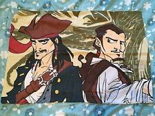 Pirates of the Caribbean Animated Fabric Pillowcase Quilting Material - 2 Sided