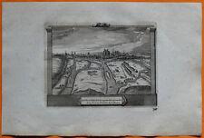 VAN DER AA Gravure originale c1725 VUE D'AMIENS Capitale Picardie Somme Rivière