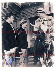 ANDY GRIFFITH DON KNOTTS AND HAL SMITH SIGNED AUTOGRAPH 8x10 RP PHOTO A G SHOW
