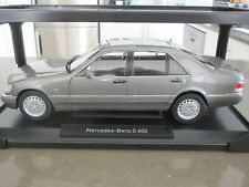 1:18 NOREV 1997 MERCEDES S600 W140 DARK GREY *NEW* LIMITED EDITION OF 1000