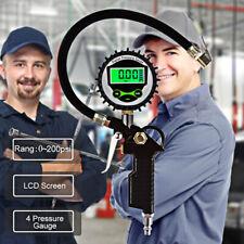 LCD Car Tyre Pressure Gauge Motorbike Digital Air Auto Tire Meter Tester 200 psi