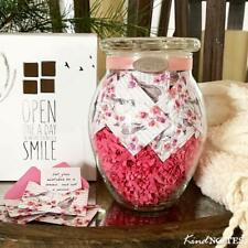 KindNotes Glass Keepsake Gift Jar with Long Distance Missing You Messages (for C