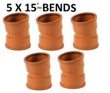 5 x 110mm Underground Drainage 15deg Double Socket Bend