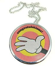 1971 Tandy Realistic Necklace Am Radio Shack Congratulations Mickey Mouse Hand W