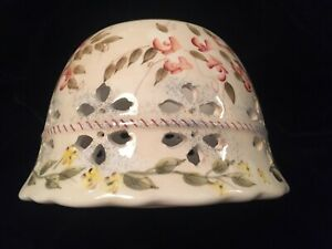 Ceramic Home Interior Candle Jar Shade with mini multi-colored flowers