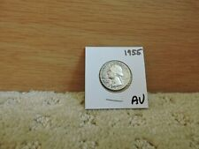 1955 US Silver Washington Quarter