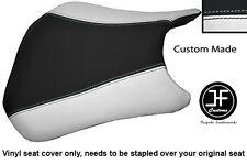 BLACK & WHITE VINYL CUSTOM FITS HONDA CBR 600 RR RR5 RR6 05-06 FRONT SEAT COVER