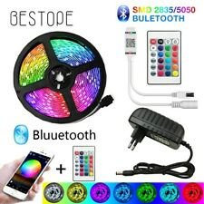 New LED Light Strip 10M 32ft Waterproof Outdoor Bluetooth App Control + Remote