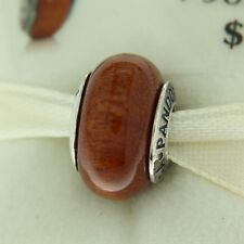 Authentic Pandora 790702 Muiracataria Wood Retired Sterling Silver Bead Charm