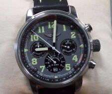 Russian Aviator Watch W/Black Leather Band