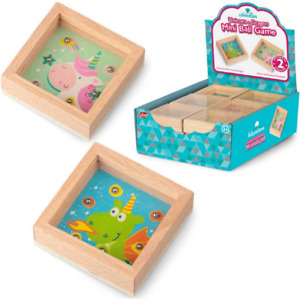 TOBAR WOODEN UNICORN AND DRAGON MINI BALL GAME - 38188 PUZZLE GAME GIFT TOY KIDS