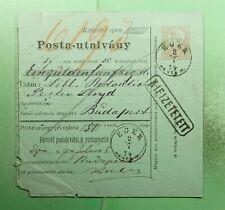 DR WHO AUSTRIA/HUNGARY POSTAL ORDER EGER TO BUDAPEST  g43057