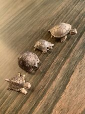 More details for tortoise turtle shell silver/pewter ornaments collector trinket box