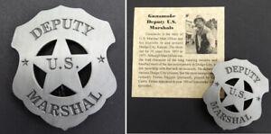 Gunsmoke Deputy US Marshal Badge,western, Dodge City, Festus Haggen