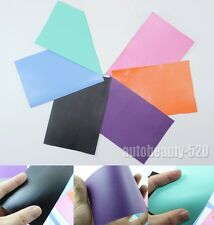 1 Set Samples - New Car Auto Flat Matte Finish Vinyl Wrap Sticker Film Sheet