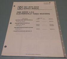 GM Delco 1987 Auto Radio 2000 Series LED Receiver Service Manual 27D-1987-2D