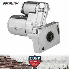 Chev SBC 283 307 327 350 Proflow Chrome 3hp Starter Motor 153T 168T Straight New