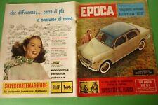 Période 1957 Fiat 1100+Sandra Malhotra + Gina Lollobrigida + Jean Gabin + Renato
