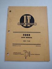 Ford 8000 Farm Tractor Shop Service Repair Manual I&T FO-25
