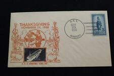 NAVAL COVER 1950 SHIP CANCEL THANKSGIVING DAY CACHET USS MINDORO (CVE-120) (3906