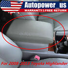 For Toyota Highlander Leather Center Console Lid Armrest Cover Gray 2008-2013