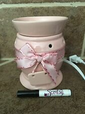 Scentsy Pink-a-boo Baby Girl Pink Wax Warmer Perfect For A Nursery Inclu. Marker