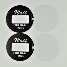 Western Electric Dial Card with Acetate x 2 - Best on the Market! - SKU - 24783