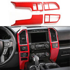 2015-2018 For Ford F150 Car Console Center Dashboard Panel Cover Trim Frame RED