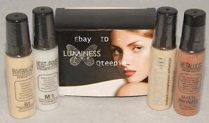 LUMINESS AIR - Airbrush Makeup - 4 pc - ENHANCING SET *PRIMER Glow Bronzer *NEW!