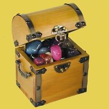 WOODEN TREASURE CHEST wood pirate pirates box SMALL kids fun jewelry box  4inch